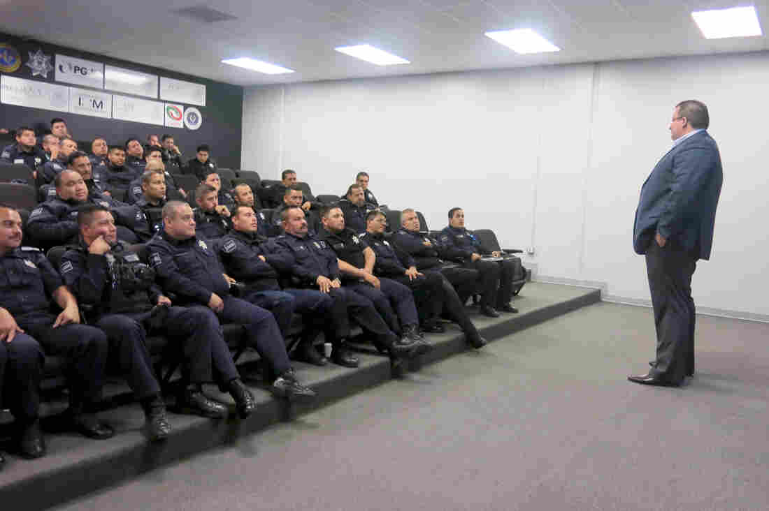 Police Chief Alejandro Lares Valladares, speaking to Tijuana police officers, wants more than half the force to wear the cameras. Lares believes the cameras will not only cut down on police wrongdoing, but also keep the public in check.
