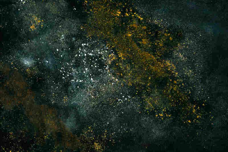 Distant galaxy: olive oil, sesame oil, water, cumin, cinnamon and flour.
