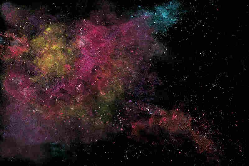 Nebula: olive oil, salt, water, makeup, baby powder and chalk.