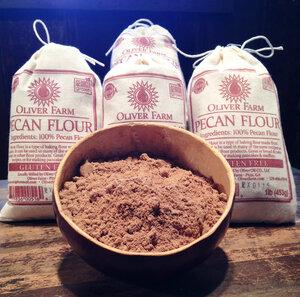 Pecan flour from Oliver Farm in Georgia.