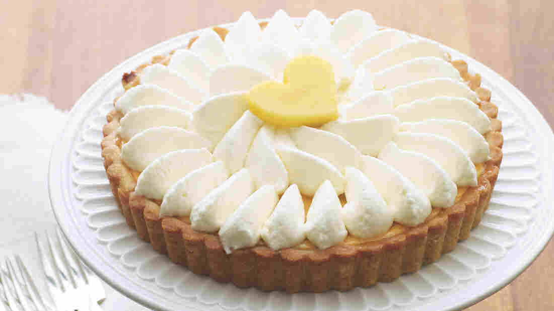 """""""It's sunshine on a plate,"""" says pastry chef and cookbook author Gesine Bullock-Prado, of her Mango Key Lime Pie."""