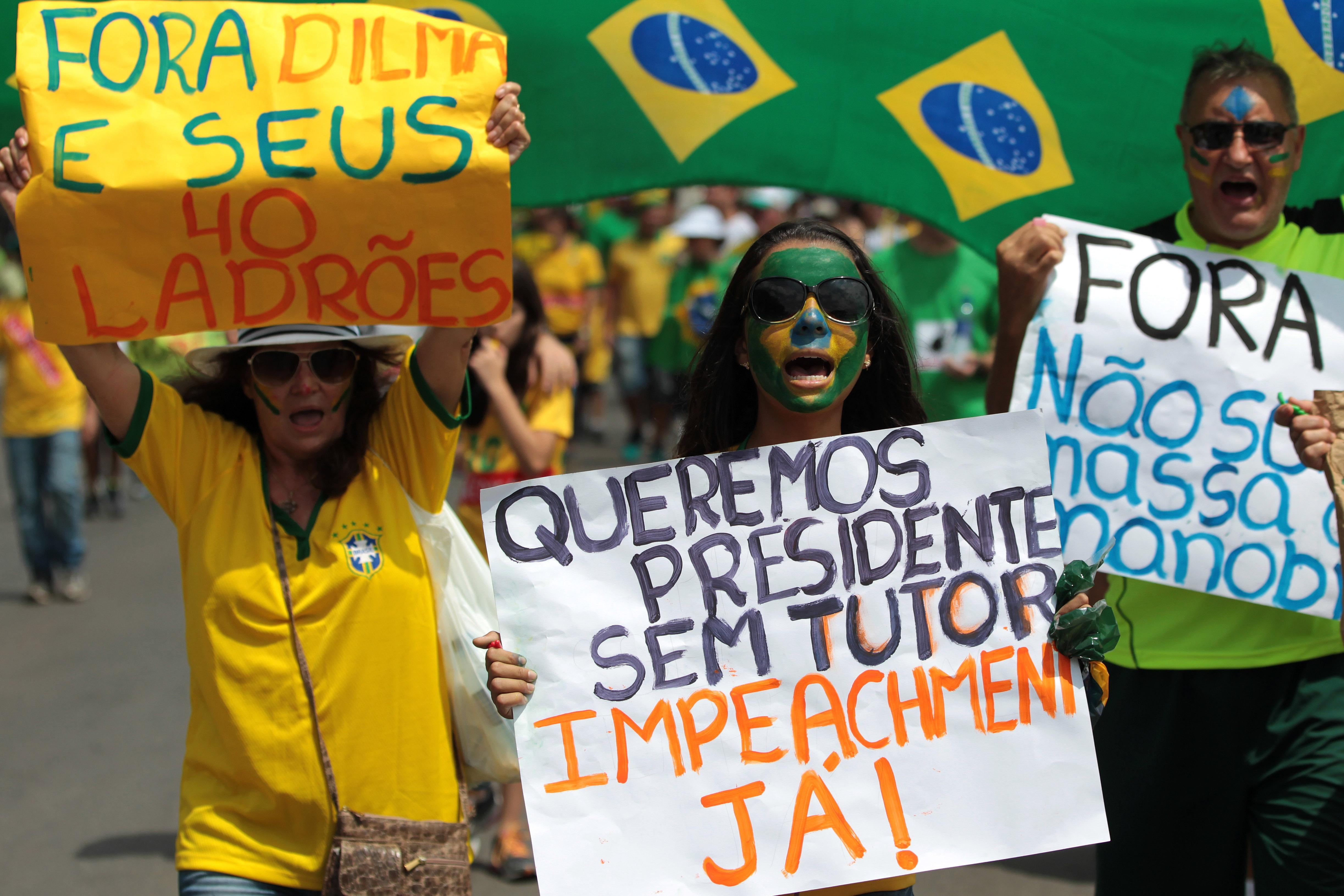 Massive Protests Against Brazil's President Seek Her Ouster
