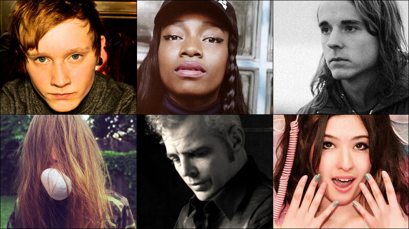 Top row, left to right: Soak, Little Simz, Andy Shauf; Bottom row, left to right: Bully, Dale Watson, Kero Kero Bonito
