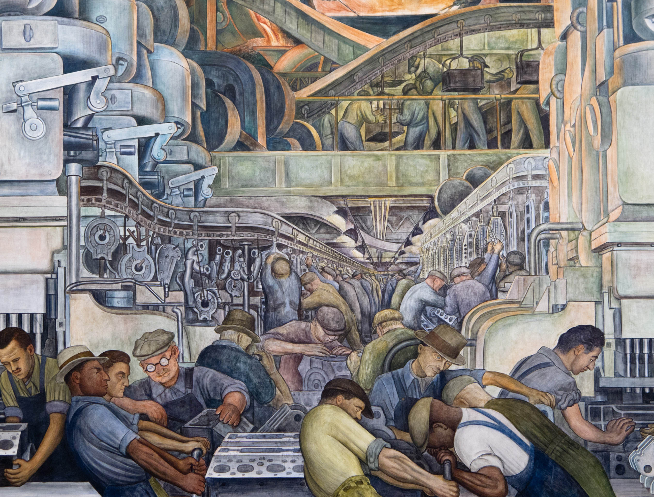 1000 images about revolutionair realisme diego rivera for Diego rivera creation mural