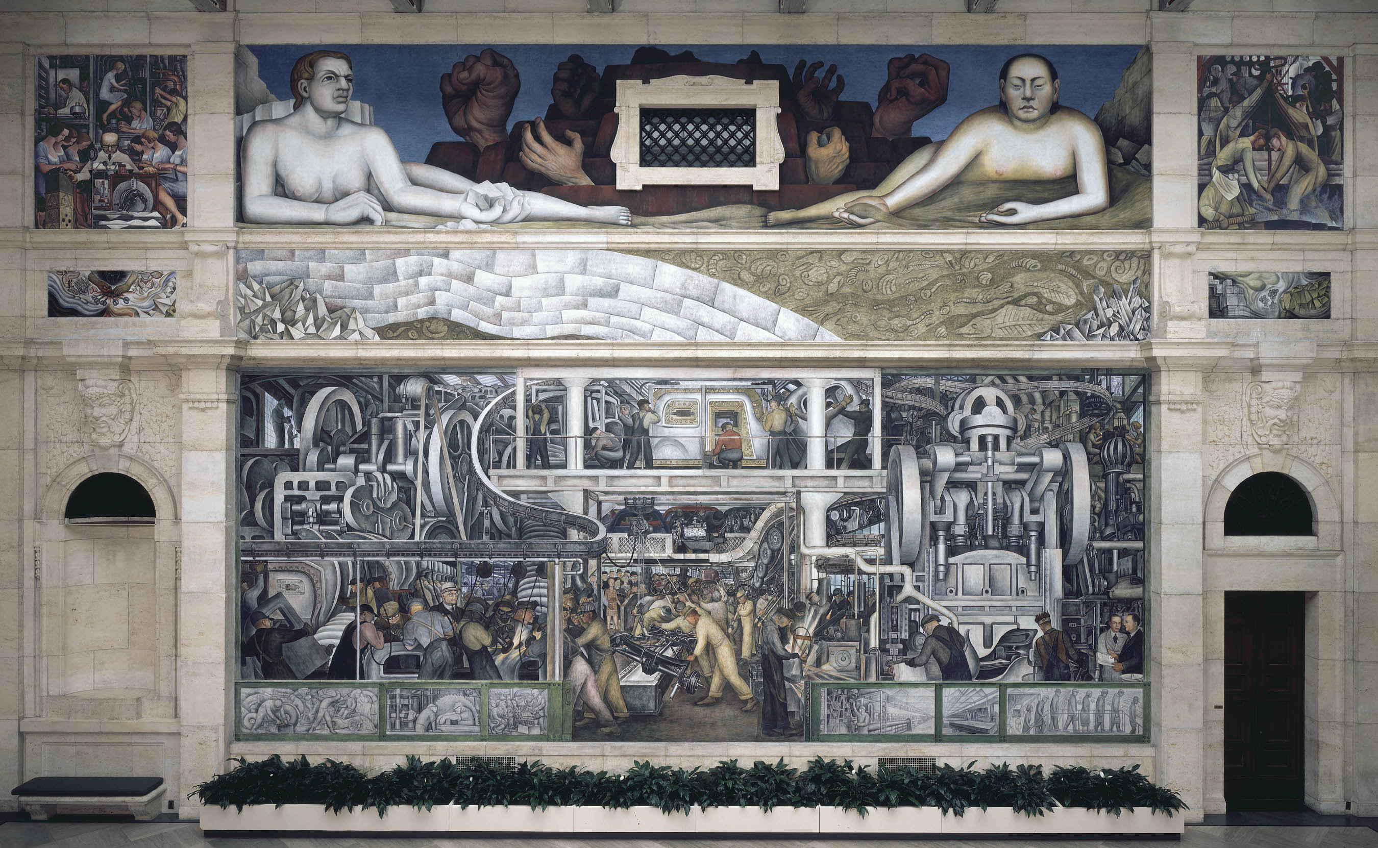 In detroit 39 s rivera and kahlo exhibit a portrait of a for Diego rivera detroit mural