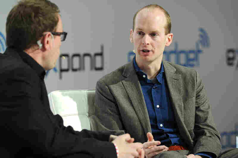 """Bas Lansdorp (right), CEO of Mars One, says he expects """"10 Olympic Games' [worth] of media revenue"""" to help fund his Mars project."""