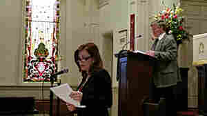 Tammy Brown, executive presbyter of the Presbytery of North Alabama, reads a proposed amendment to the Constitution of the Presbyterian Church (USA) on Feb. 21 at First Presbyterian Church in Florence, Ala. The amendment allows Presbyterian ministers to officiate at marriages of same-sex couples in states where that is legal. A majority of presbyteries have approved the measure.