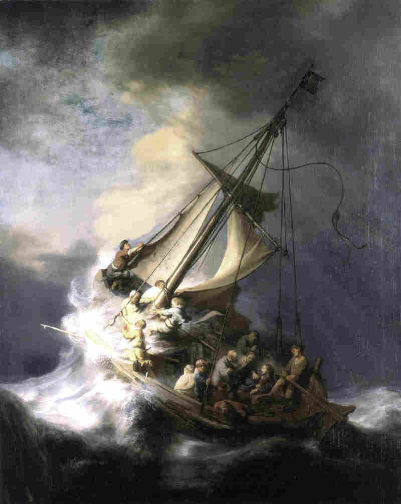 "Rembrandt's 1633 painting The Storm on the Sea of Galilee remains missing. ""It's the most engaging painting that I've ever seen,"" says Master Thieves author Stephen Kurkjian."