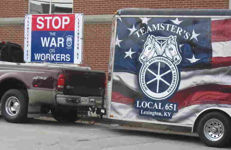 A Teamsters union from Lexington, Ky., was on hand as Warren County became the first county in the U.S. to pass a local right-to-work law.