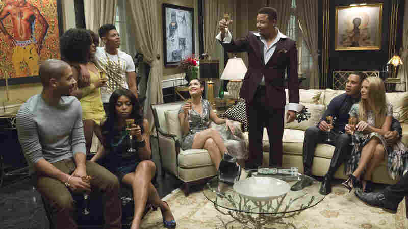 Terrence Howard (center) stars in Empire with (from left): Jussie Smollett, Serayah McNeill, Taraji P. Henson, Bryshere Gray, Grace Gealey, Trai Byers and Kaitlin Doubleday.