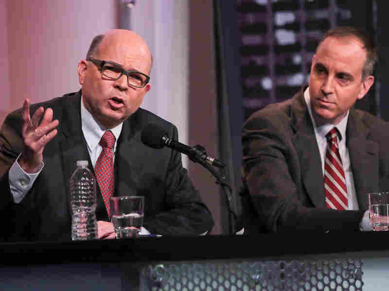 The European Commission's Paul Nemitz (left), with teammate Eric Posner, says individuals should have the right to control what others know about them.