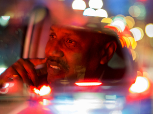 After a long day at the Somali American Community Center he founded in Clarkston, Ga., and then at an after-school program, Omar Shekhey drives a taxi to earn extra money. Often he gives his earnings to refugees to help them with expenses.