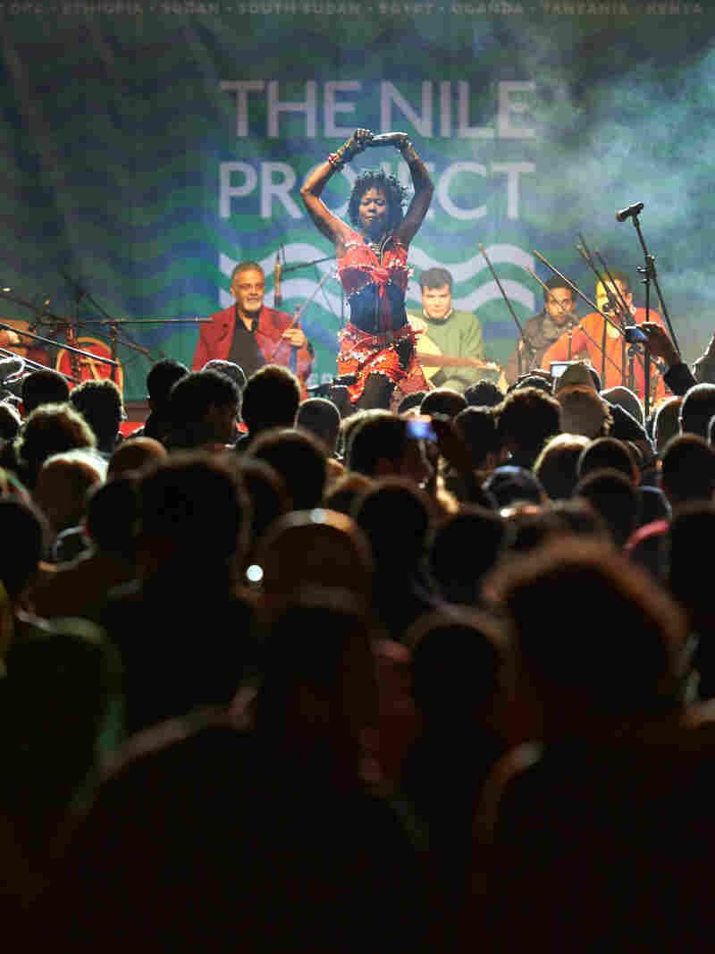 A Nile Project concert in Al Azhar Park, Cairo, Egypt, 31 January, 2013.