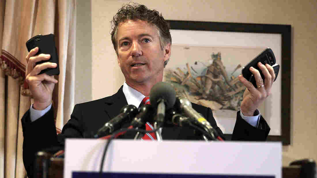 Sen. Rand Paul's Facebook page has nearly 2 million likes. It features posts from his travels, interviews and infographics about his potential competition.