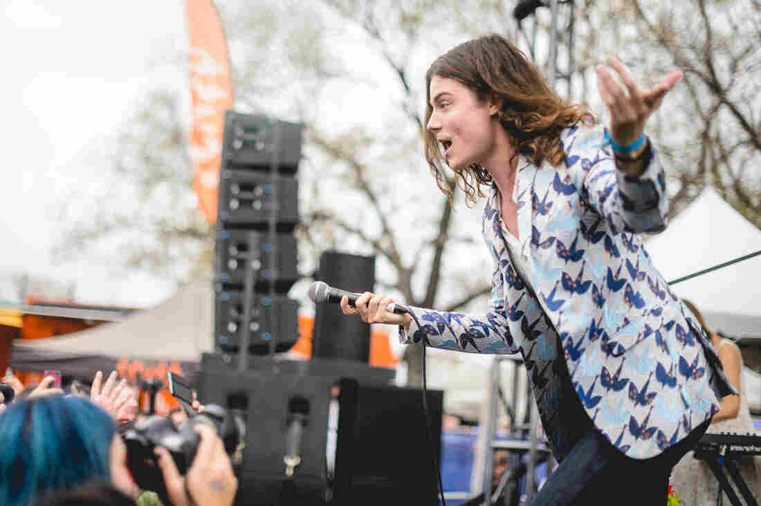 BØRNS performs at the Spotify House.