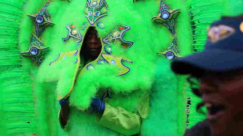 Big Chief Tugga Cloud, 17, leads the Red Flame Hunters, a newer Mardi Gras Indian tribe that is also a youth outreach organization.