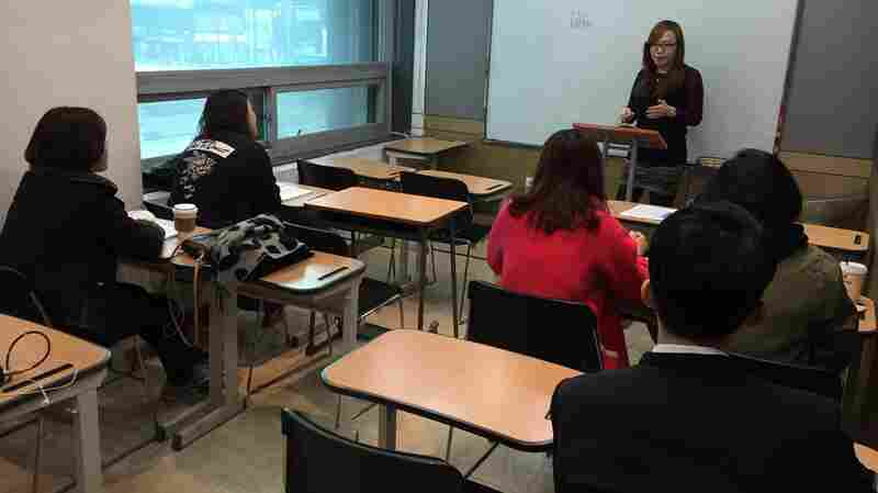 Language instructor Soh Bor-am teaches eight Mandarin classes a day, as Chinese tourism to South Korea swells.
