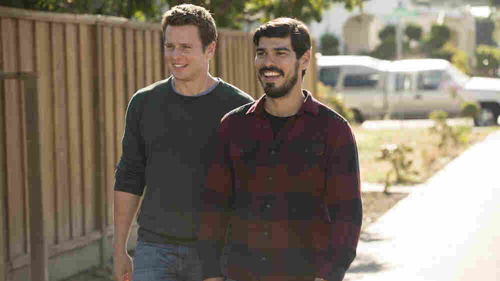 Jonathan Groff and Raúl Castillo appear on the HBO series Looking.