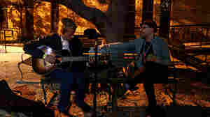 Tom Brosseau plays an unrecorded murder ballad in a church courtyard after midnight.