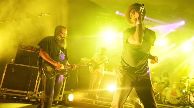 TV On The Radio headlined NPR Music's SXSW showcase at Stubb's on Wednesday, March 18, 2015. (Adam Kissick for NPR)
