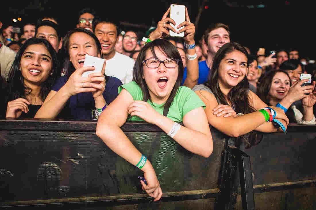 Fans watch Stromae at Stubb's.