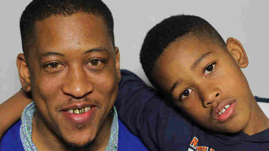 Albert Sykes fielded questions from his son, Aiden, at StoryCorps in Jackson, Miss.