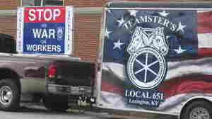 A Teamster's Union from Lexington, Ky. was on hand as the Warren County Fiscal Court became the first county in the nation to pass a local right-to-work law.