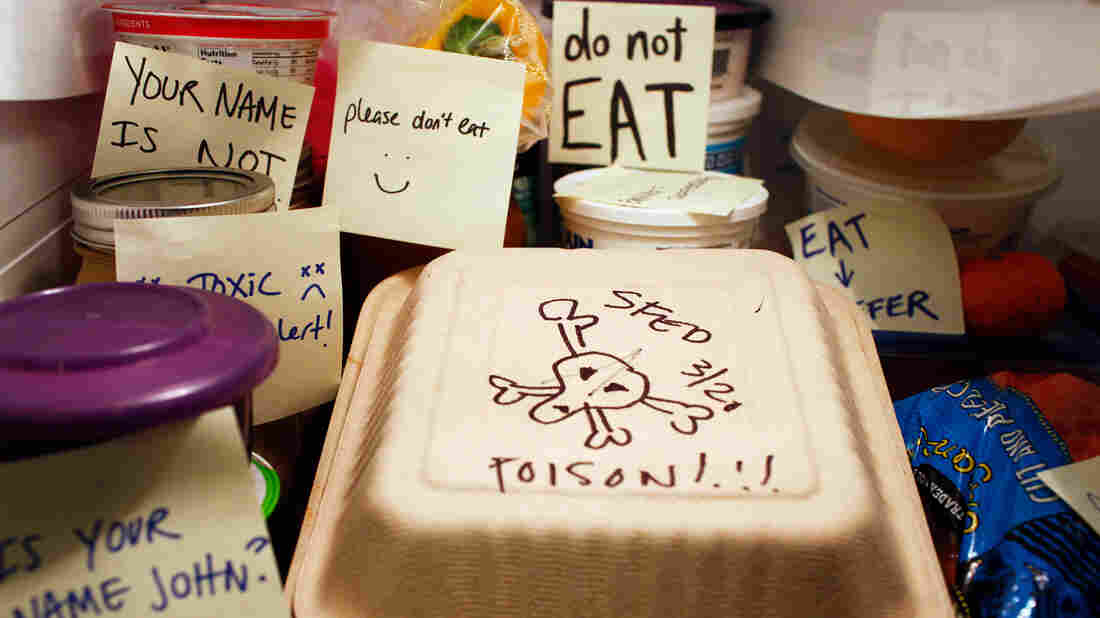 "Snarky notes may not do much to ward off office fridge thieves. ""I came across one guy who will intentionally steal people's food when they leave snarky notes,"" says Dan Pashman, host of the Sporkful."