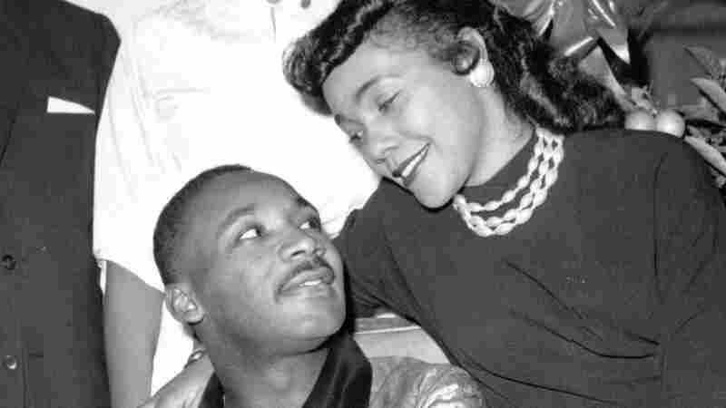 Martin Luther King Jr., with his wife, Coretta, at a Harlem hospital after he was stabbed by Izola Ware Curry in 1958.