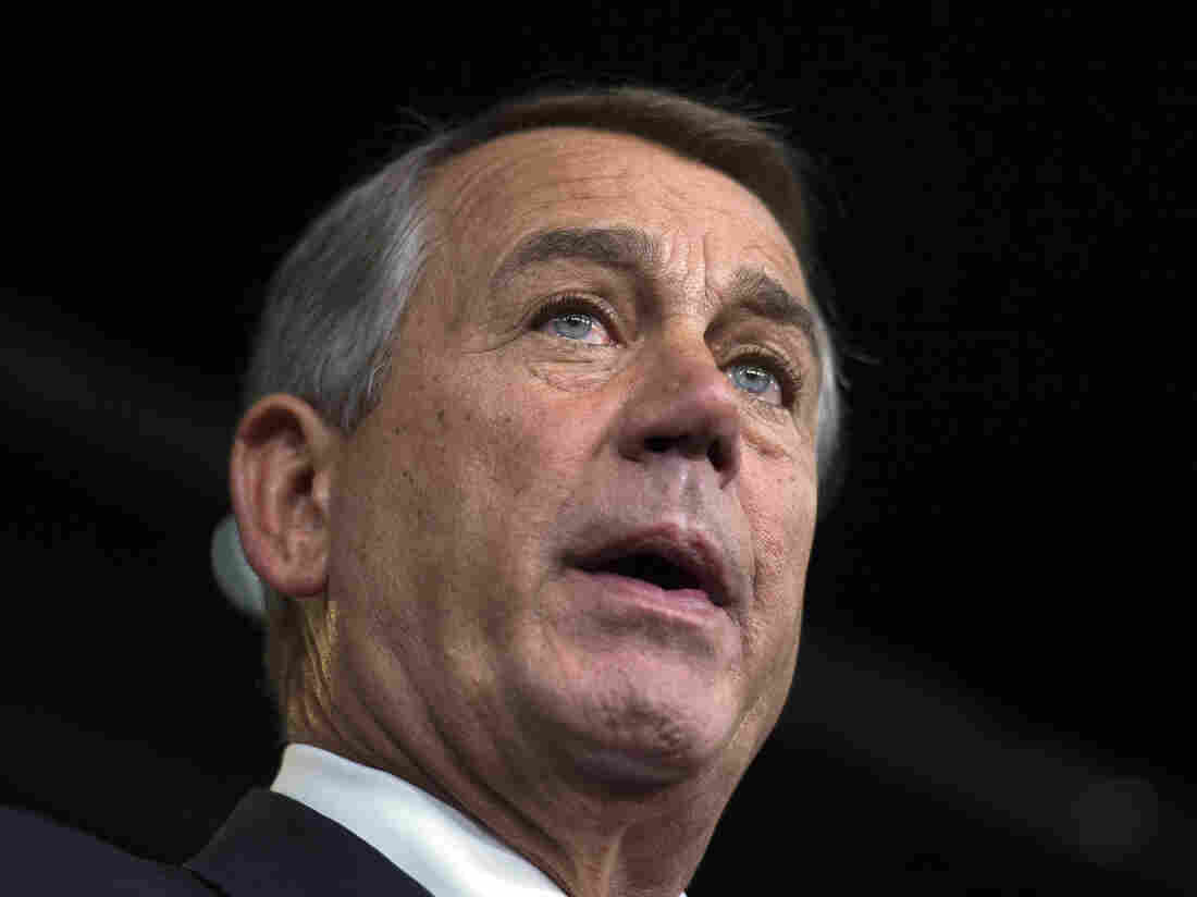 House Speaker John Boehner, R-Ohio, speaks during a news briefing in the U.S. Capitol in Washington on Thursday. Boehner's office announced today that he would travel to Israel at the end of the month.