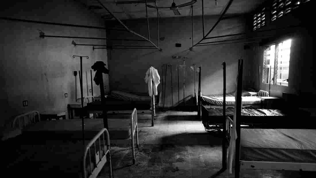 The empty emergency and critical care area of Redemption Hospital in New Kru Town, Monrovia, Liberia.