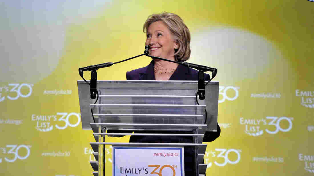"""""""Don't you someday want to see a woman president of the United States of America?"""" Hillary Clinton asked at the EMILY's List gala earlier this month."""