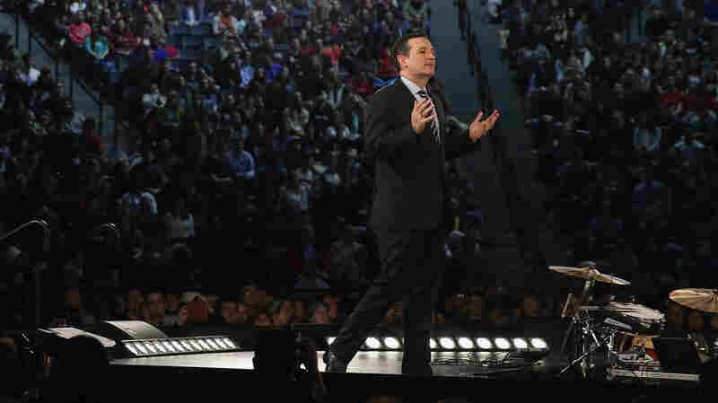 Ted Cruz speaks at Liberty University Monday.