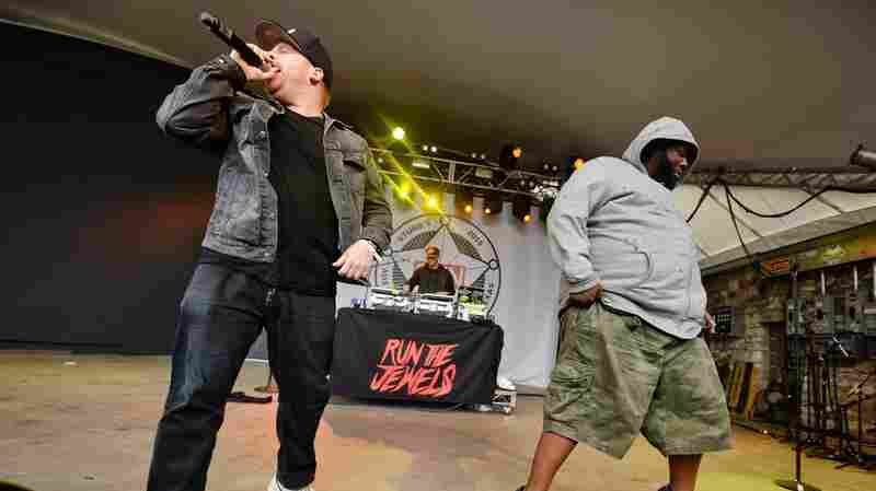 El-P (left) and Killer Mike of Run the Jewels play the Spin party at Stubb's.