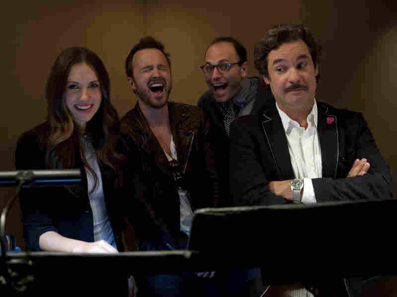 BoJack Horseman creator Raphael Bob-Waksberg (third from left) with actors Alison Brie, Aaron Paul and Paul F. Tompkins.