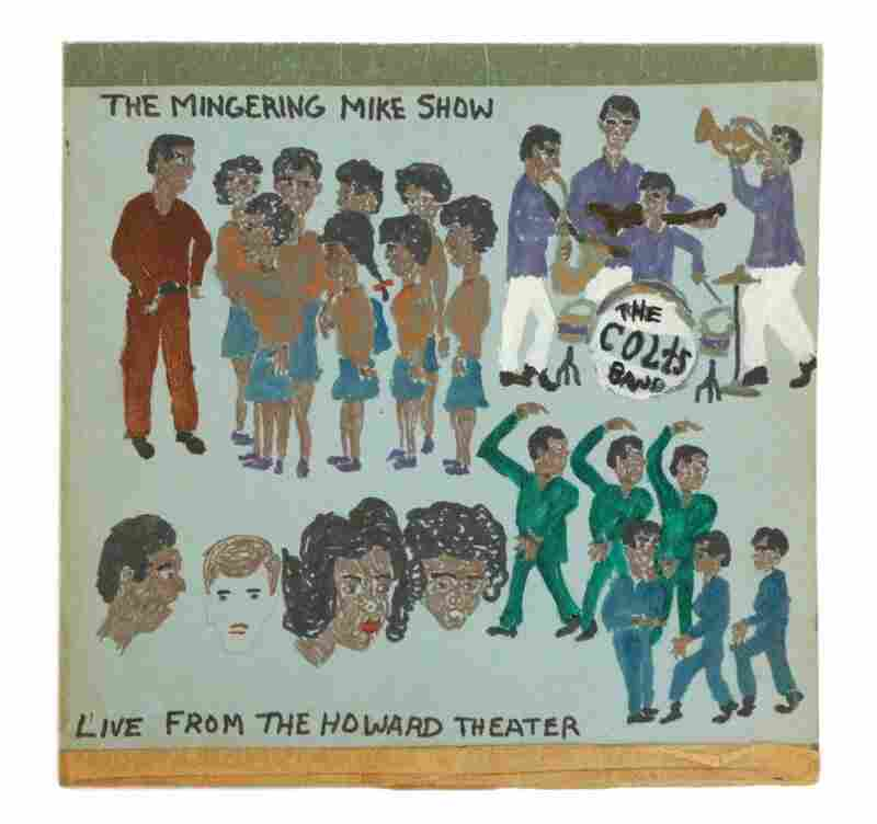 The Mingering Mike Show Live from the Howard Theater, 1969 (mixed media on paperboard).