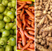 Far left and far right: Courtesy of Ron Clark/Better Harvests. Center three images: Courtesy of Bon Appétit Management Company