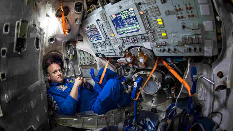 NASA astronaut Scott Kelly, seen inside a Soyuz simulator in Russia on March 4, is scheduled to start a journey aboard a Soyuz spacecraft on Friday with Russian cosmonaut Mikhail Kornienko. They plan to launch from the Baikonur Cosmodrome in Kazakhstan.