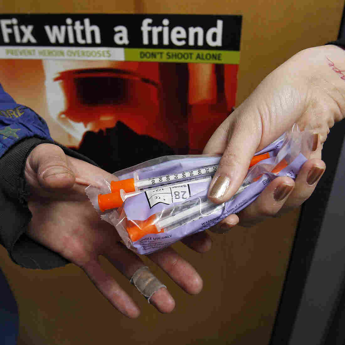 Needle exchange programs, like this one in Portland, Maine, offer free, sterile syringes and needles to drug users. The programs save money and lives, health officials say, by curtailing the spread of bloodborne infections, such as hepatitis and HIV.