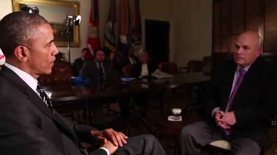 President Obama talks to David Simon, creator of The Wire.