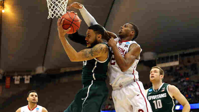 Oklahoma's Buddy Hield (right) and Denzel Valentine of Michigan State played in Friday's East Regional Semifinal of the 2015 NCAA tournament in Syracuse. If you've got money riding on this year's NCAA tour