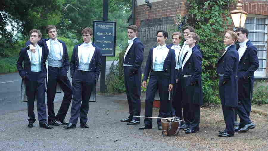 Sam Claflin (Alistair), Max Irons (Miles), Douglas Booth (Harry), Sam Reid (Hugo), Ben Schnetzer (Dimitri), Jack Farthing (George), Matthew Beard (Guy), Freddie Fox (James), Josh Connor (Ed), and Olly Alexander (Toby).