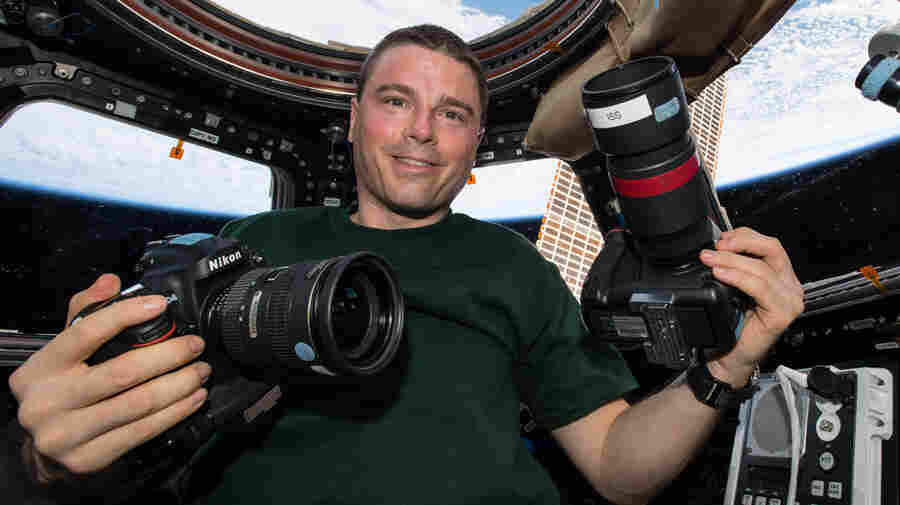 Astronaut Reid Wiseman with cameras — in space!