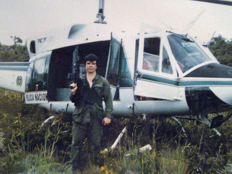 """Retired agent Michael Vigil on a search and destroy operation in the Colombian jungle. """"As an undercover, you're basically kind of an independent operator ... and it's very addictive."""" says Laura Brodie, a criminal and forensic psychologist. (Courtesy Michael Vigil)"""