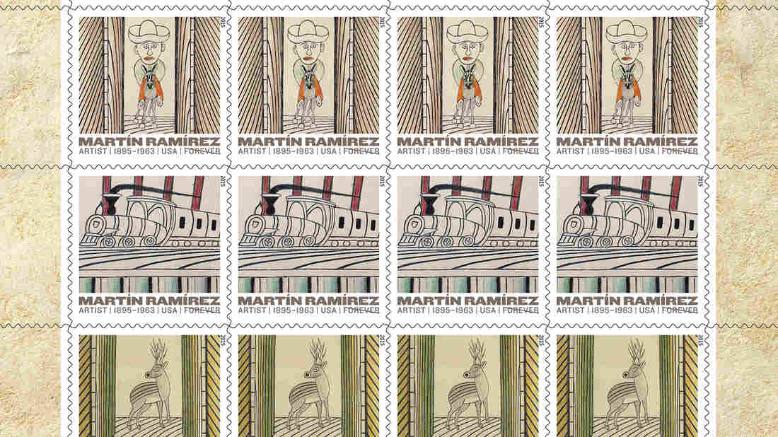 The U.S. Postal Service, in conjunction with the Ricco/Maresca Gallery in New York, unveiled five new stamps Thursday depicting the paintings of Mexican artist Martin Ramirez.