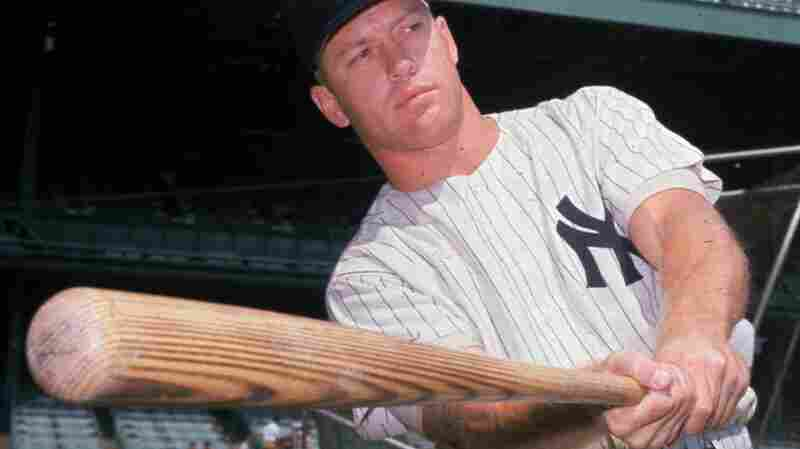 Mickey Mantle was the subject of a newspaper hoax in 1961. Here he is that year taking practice swings at Yankee Stadium.