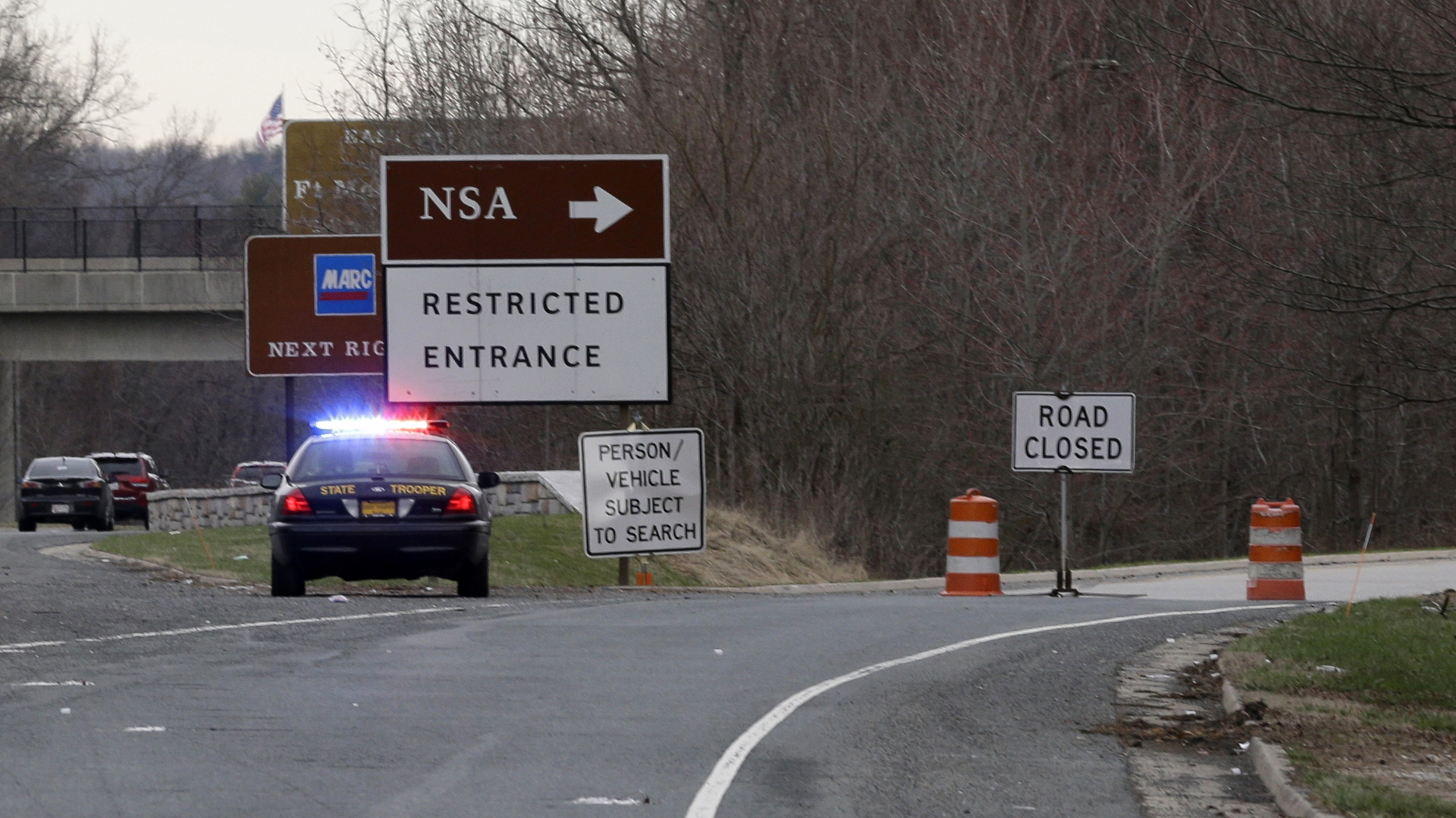 1 Death Reported Outside NSA After Car Tried To Ram Security Gate