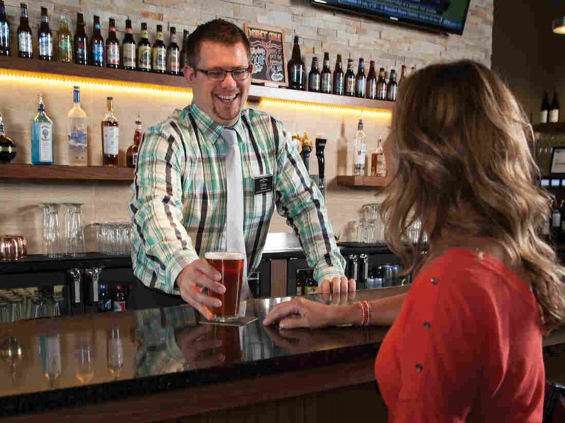 A little booze can't hurt: The Hy-Vee grocery chain has added a Market Grille to several of its locations in the Midwest and Great Plains. You can order drinks and dinner before or after you do your grocery shopping.