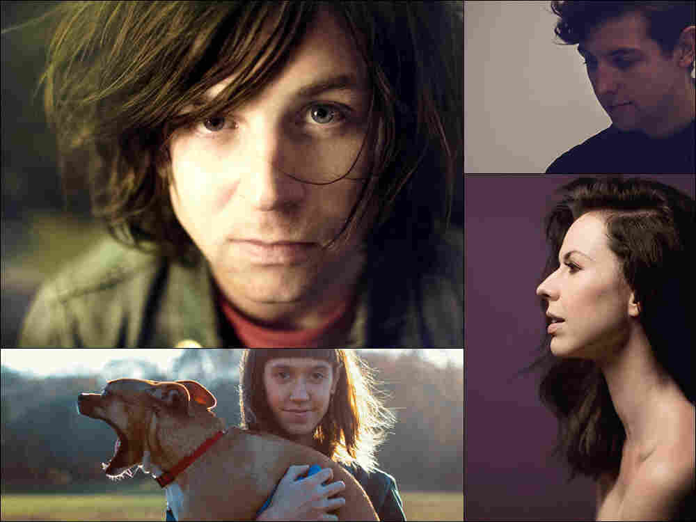 Clockwise from upper left: Ryan Adams, Jamie xx, Joy Williams, Eskimeaux