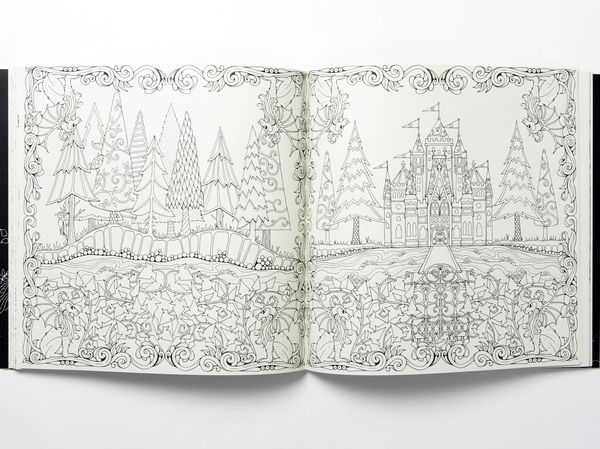 A Spread From EmEnchanted Forest An Inky Quest Coloring Book